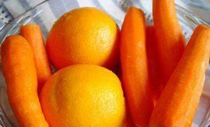 апельсины и морковь