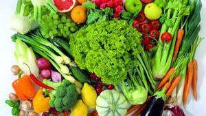свежие овощь да фрукты