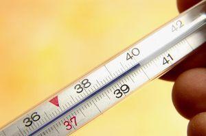 градусник с температурой