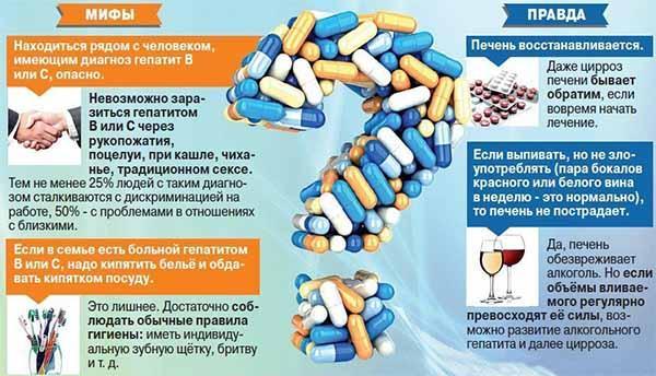 мифы про гепатиты