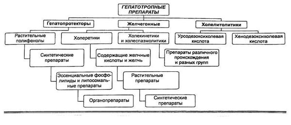 классификация гепатопротекторов