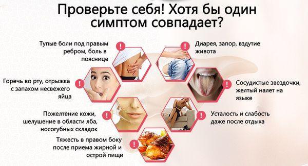 симптомы болезни печени