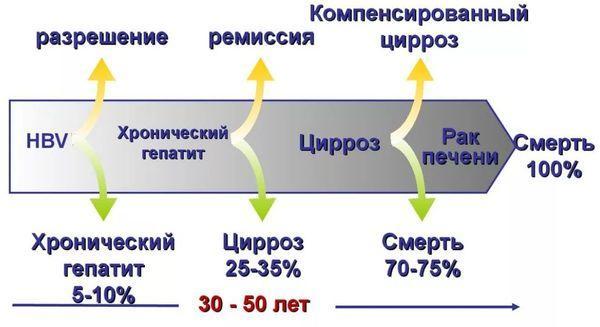 течение хронического гепатита В